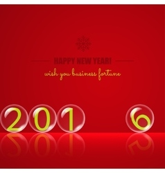 Transparent rolling glass balls on red background vector