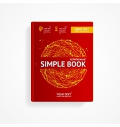Book cover with abstract sphere vector