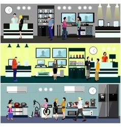 People shopping in a mall concept Consumer vector image