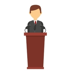 Podium candidate isolated icon design vector