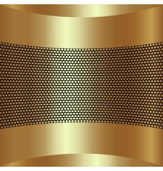 Abstract golden background with grille vector