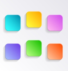 Blank colorful buttons vector image vector image