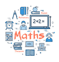 blue concept with maths subject vector image