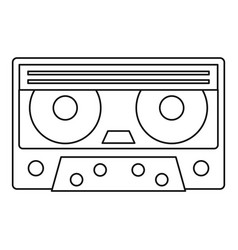 cassette tape icon outline style vector image