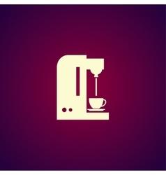 Coffee maker icon vector image