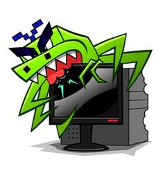 computer virus vector image vector image