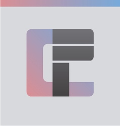 Cp gradient logo vector