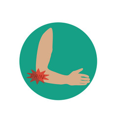 elbow pain vector image vector image