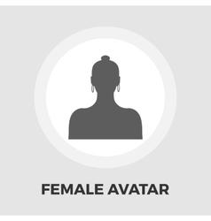 Female avatar flat icon vector image
