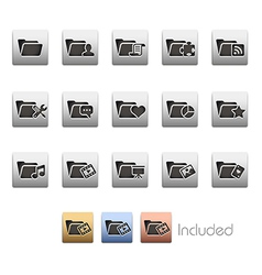 Folder Icons 2 vector image