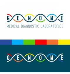 Genome logo white vector