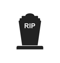 Halloween grave icon gravestone rip tombstone vector