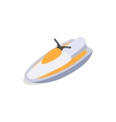 Jet ski icon isometric 3d style vector
