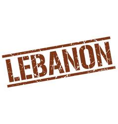 lebanon brown square stamp vector image