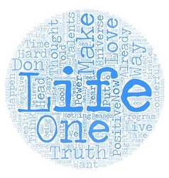 Life Is Wonderful text background wordcloud vector image