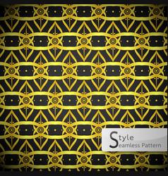 Lotus floral lattice loop ribbon gold vintage vector
