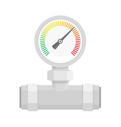 manometer on pipe vector image vector image