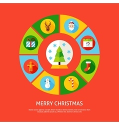 Merry christmas infographic concept vector