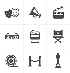 Movie Icons design vector image