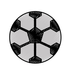Scribble soccer ball cartoon vector