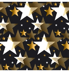Seamless dots modern luxury pattern on black vector