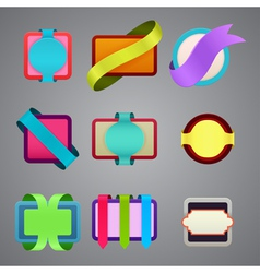 set of different color ribbon labels vector image