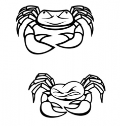 two crabs vector image vector image