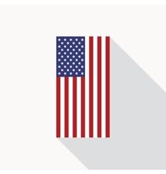 USA Flag Flat Icon vector image