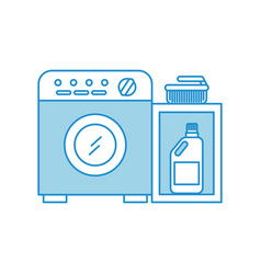wash machine with detergent bottle vector image