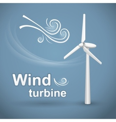 Wind turbine background vector