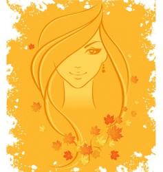 women autumn vector image vector image