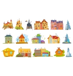 Set of various houses vector