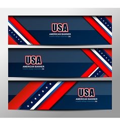 Usa flag color banner backgrounds vector