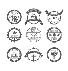 Set of different gray icons vector
