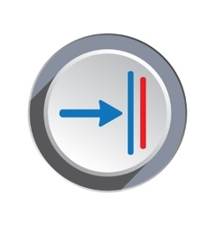 Deadline move icon direction cursor arrow to vector