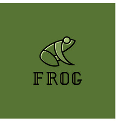 Frog logos sign mark trend vector