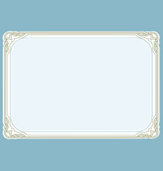 blue green background and frame vector image