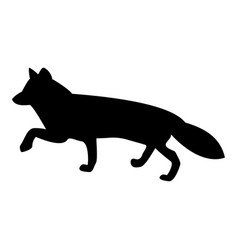 fox of silhouettes the black color icon vector image