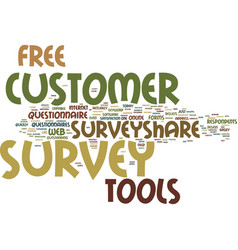 Free customer survey tools text background word vector