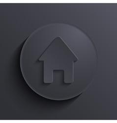 modern dark circle icon Eps10 vector image