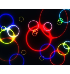 Colourful rings vector