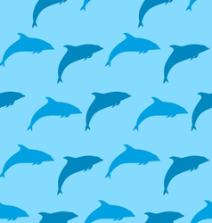 Seamless pattern with dolphin marine mammal animal vector