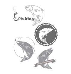 Fishing asp vector