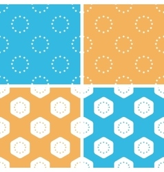 Eu emblem pattern set colored vector