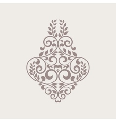 Ornamental floral element for design vector