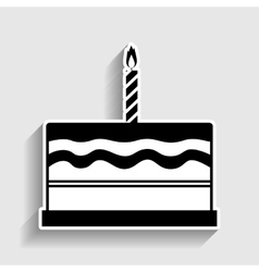 Birthday cake sign vector