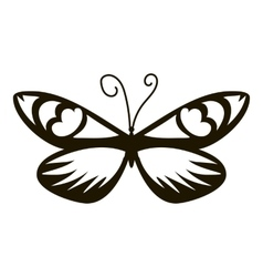 Air butterfly icon simple style vector