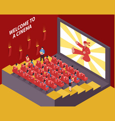 at the movies composition vector image vector image
