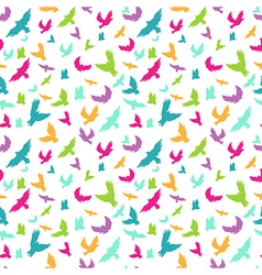 Birds in seamless pattern vector image vector image