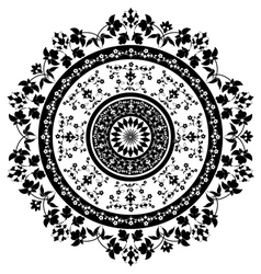 Black and white oriental pattern and ornaments vector